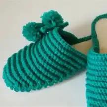 Pantuflas con suelas a Crochet
