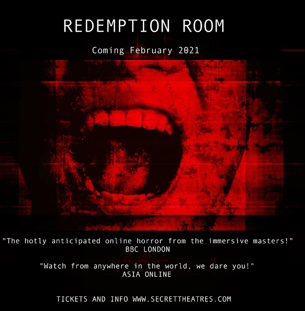 Secret Theatre Presents 'Redemption Room' - The Live Online Thriller Experience Makes its World Premiere on February 27th [Trailer Included]
