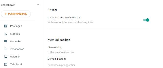 seting blog dasar