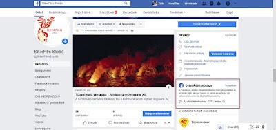 Facebook oldal elemzés