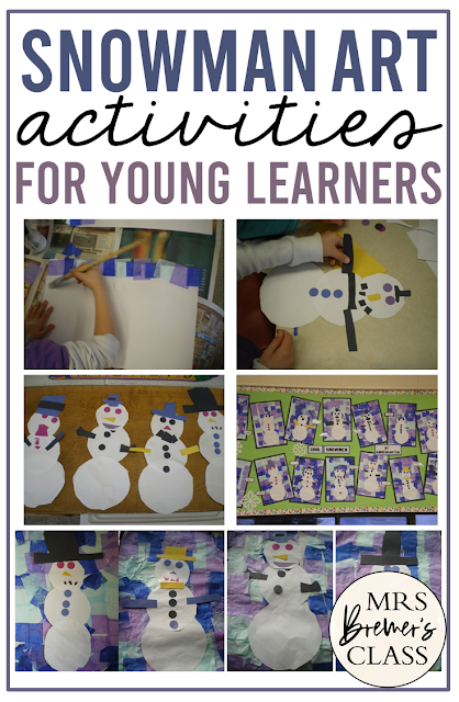 Snowman Art winter activities and ideas for Kindergarten