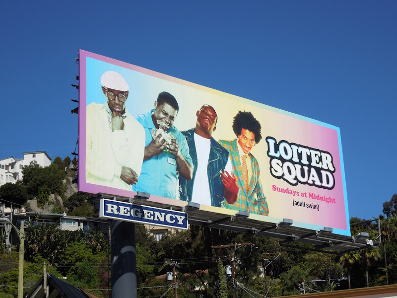 Loiter Squad season 2 Adult Swim billboard