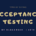 MANUAL TESTING | Types of Testing: Acceptance Testing / UAT / BAT