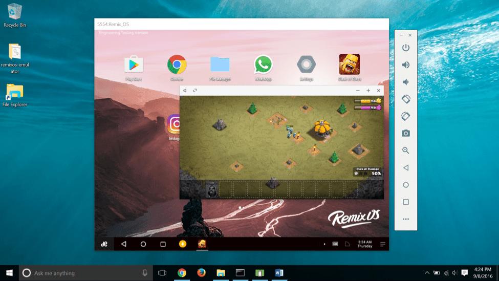 برنامج فتح تطبيقات اندرويد على الكمبيوتر Remix Os Player