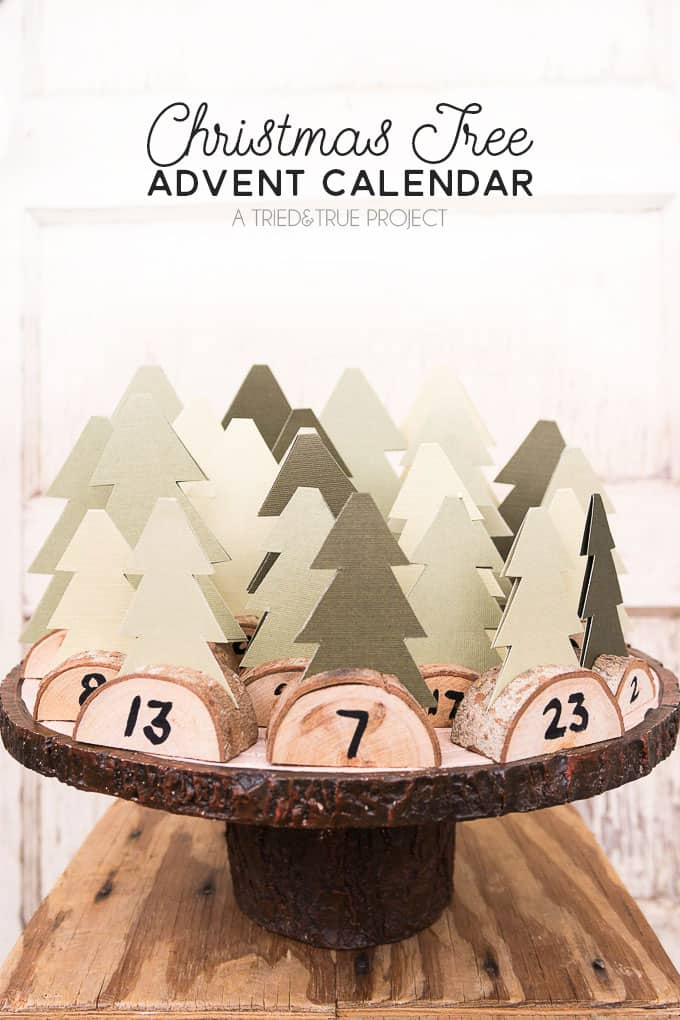 Christmas tree forest DIY advent calendar
