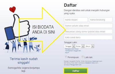 Cara membuat facebook baru gratis