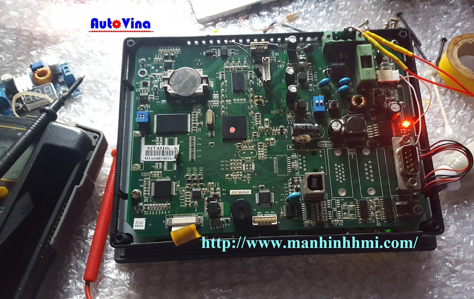 Công ty Auto Vina đo đạc, kiểm tra bo mạch Main board của màn hình Kinco MT4310C