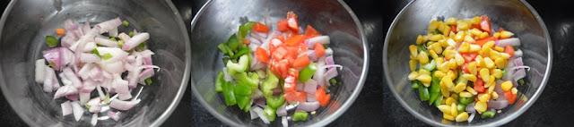 Step 1 - Vegetable  Lettuce Wraps   Healthy Veg Snacks