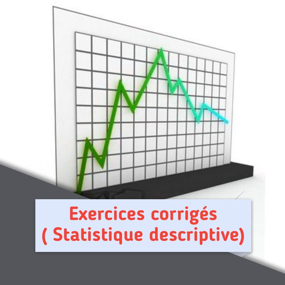 Statistiques Descriptives Exercices Corriges Pdf Eco Pro