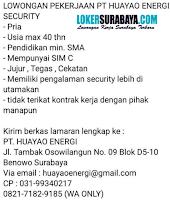 Lowongan Kerja Surabaya di PT. Huayao Energi Juli 2020