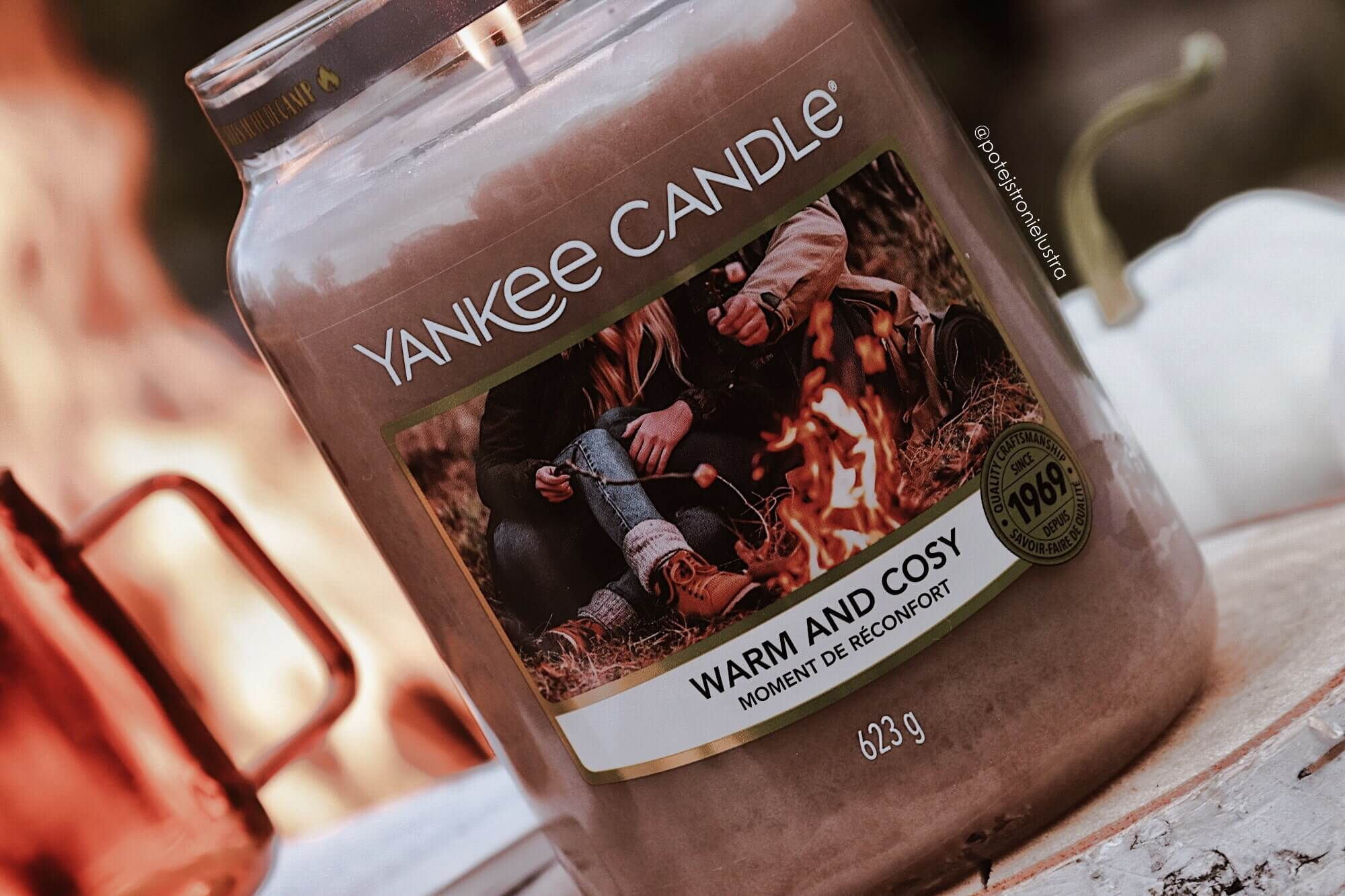 etykieta świecy yankee candle warm and cosy