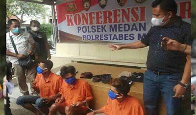 Polsek Medan Area Dengan Cepat Ringkus 3 Pelaku Pencurian Dengan Pemberatan di Mesjid Muslim Denai