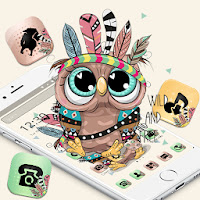 Cute Cartoon Owl Sketch Launcher Theme 🦉 Apk for Android