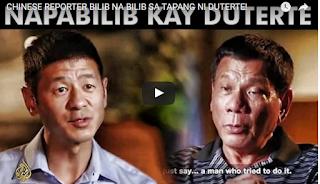 JUST IN: Chinese Reporter Bilib Na Bilib Sa Tapang Ni Duterte!