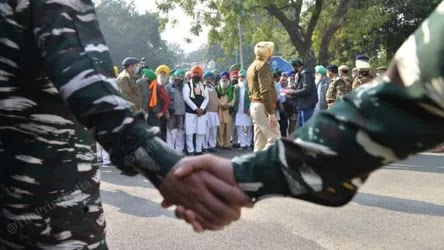 Army Plans Disciplinary Action Against a Soldier at Farmers' Protest, Troops Being Sensitized
