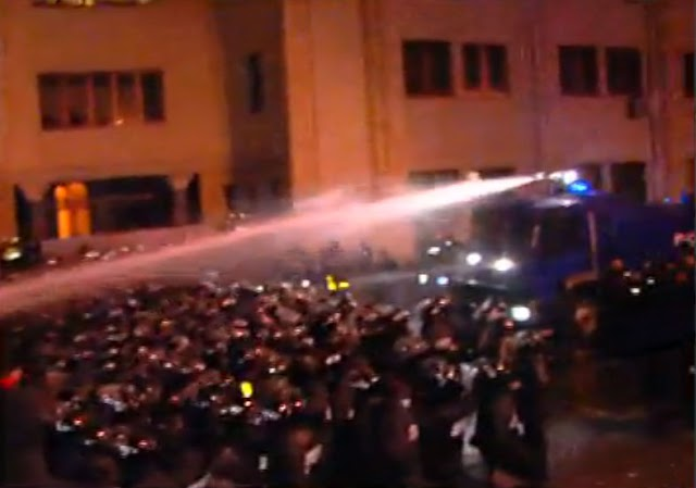 Очередной разгон акции протеста около Парламента Грузии.