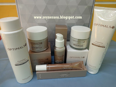 Review Optimals Even Out Skincare Set oriflame
