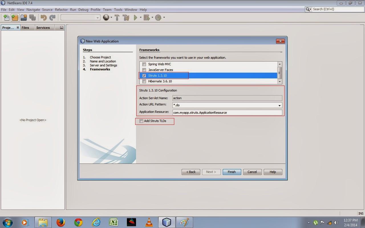 Java Web Development How To Create Java Struts Web Application Project Using Struts Framework