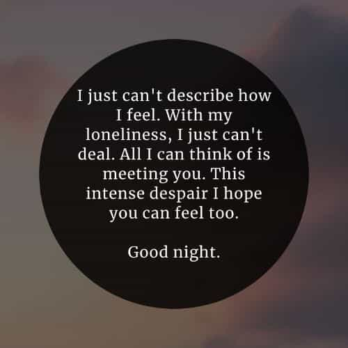Beautiful good night inspirational quotes and sayings