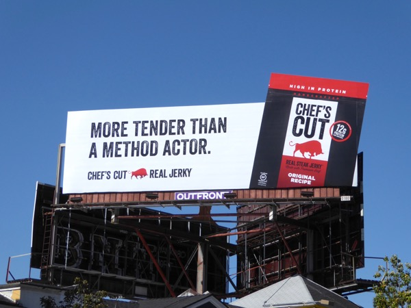 Chefs Cut More tender than method actor billboard