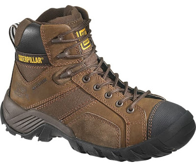 Sepatu Safety Caterpillar Argon Hi CT Waterproof Brown Original