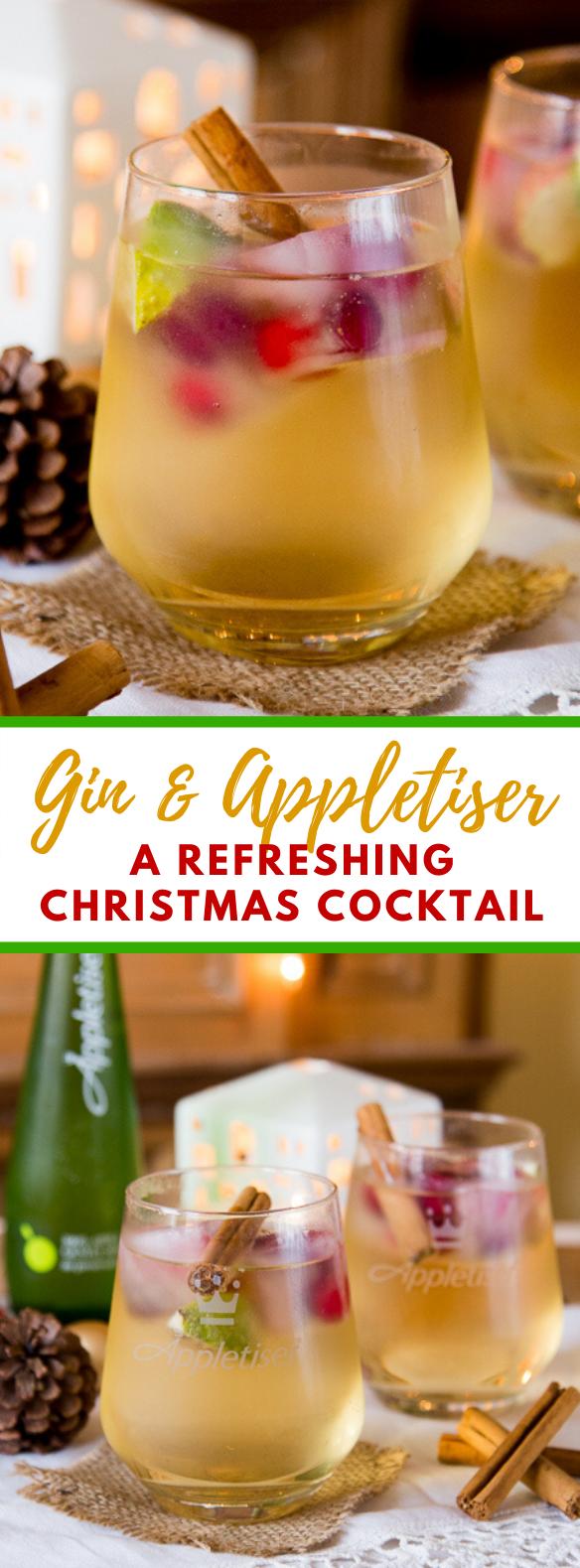 GIN & APPLETISER – A REFRESHING CHRISTMAS COCKTAIL #drinks #glutenfree