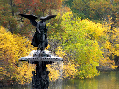 Fall and Autumn Colors Bethesda Fountain