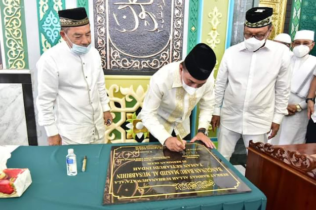 Gubernur Sumut Resmikan Pembangunan Masjid Al-Musabbihin, Edy: Harus Sejalan dengan Peningkatan Ibadah