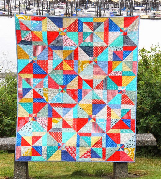 Summer Slice Quilt Free Tutorial Designed by Allison of Cluck Cluck Sew