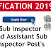 SSC SI and ASI recruitment 2019 notification online application