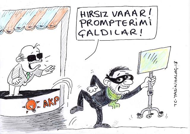 hırsız var karikatür