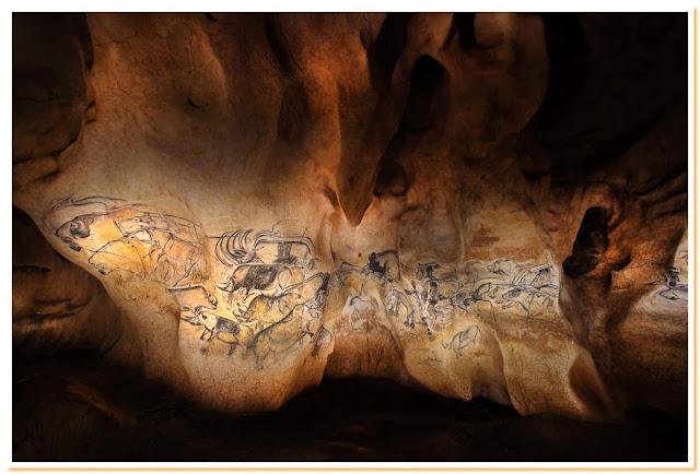 Grotta di Chavet, la scena delle leonesse storia dell'arte rupestre preistoria paleolitico