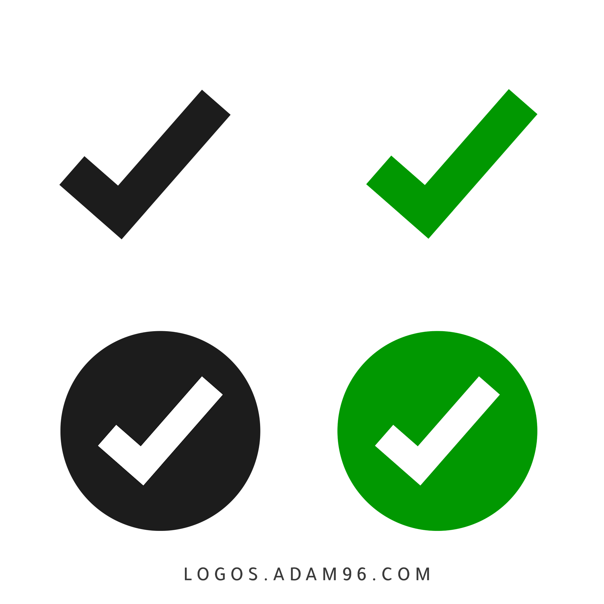 Positive check mark Icons Free Vector Download PNG