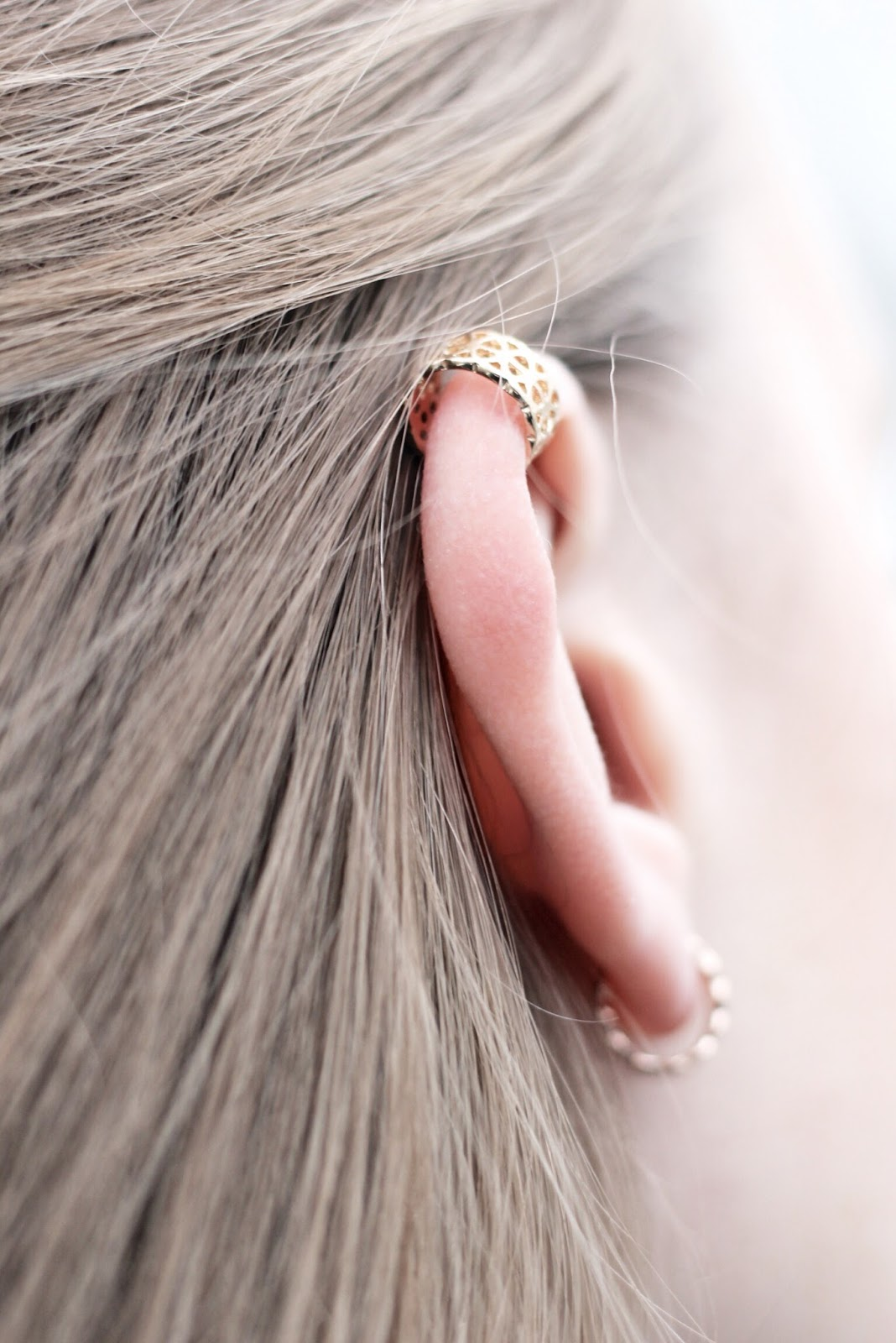 Delicate and dainty gold ear cuffs by Accessorize
