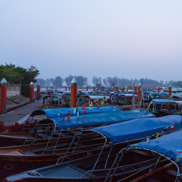 boats parked at jetty at kuala besut jetty terengganu malaysia travel to perhentian island