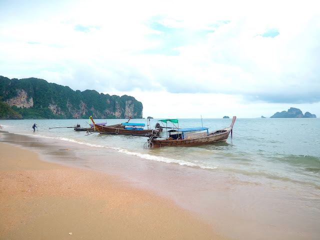 Longtail boats on Ao Nang beach, Krabi, Thailand