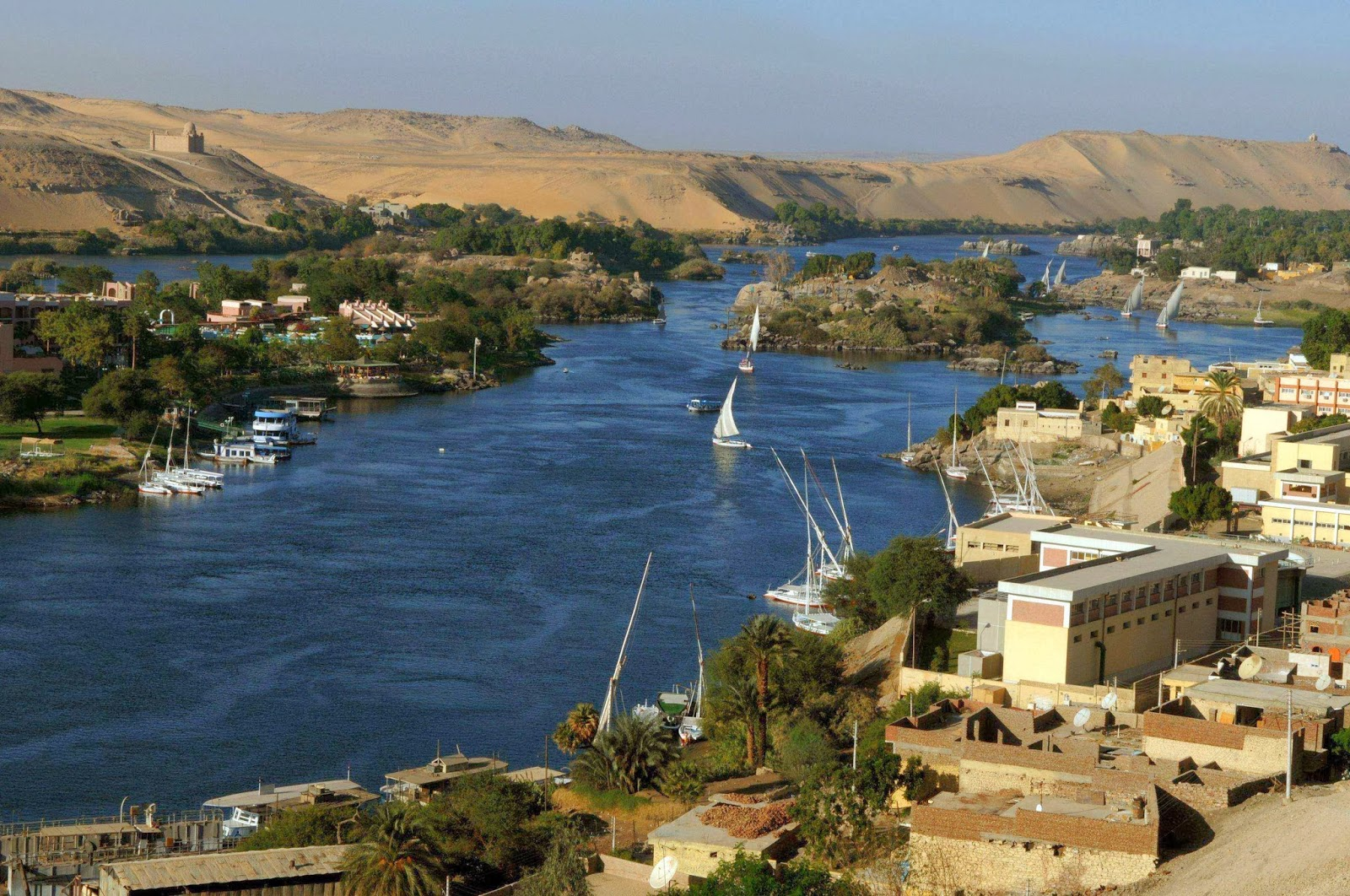 El río Nilo en Egipto