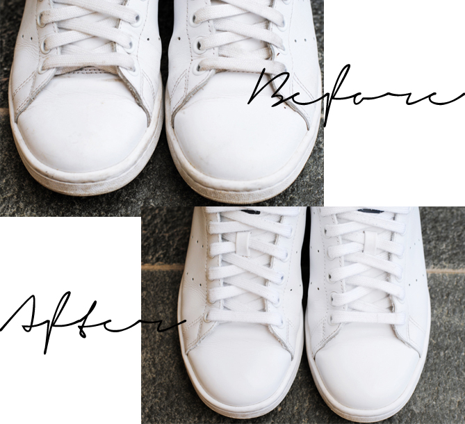 clean sneakers before after