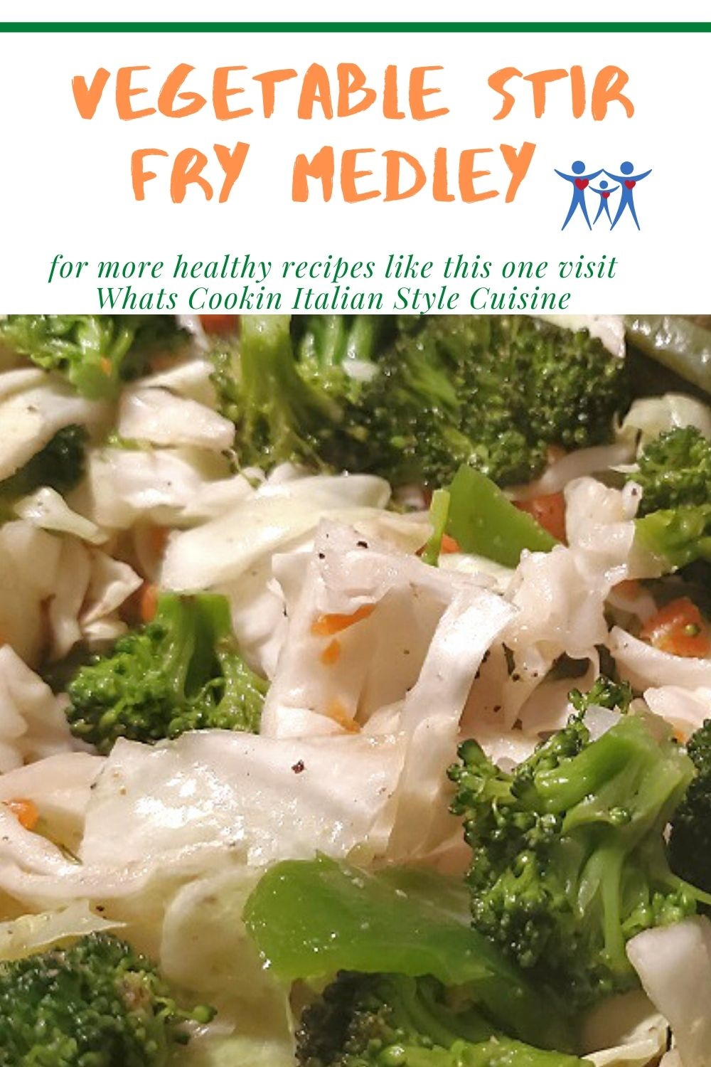 healthy freshly stir fried vegetables recipe pin for later
