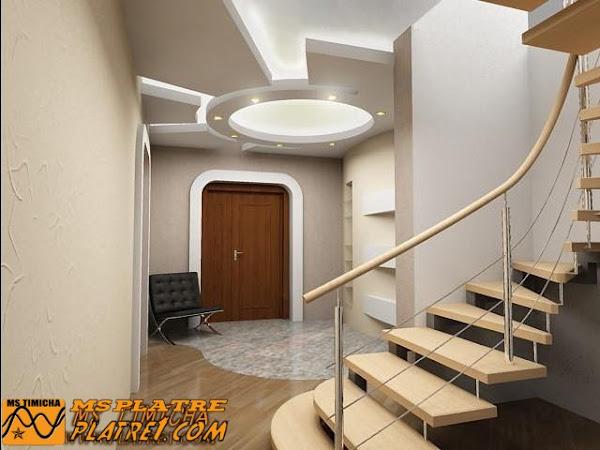 Faux plafond de couloir decoration platre plafond - Decoration platre couloir ...