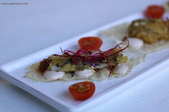 Sardina en tempura