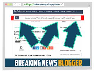 Breaking news blog