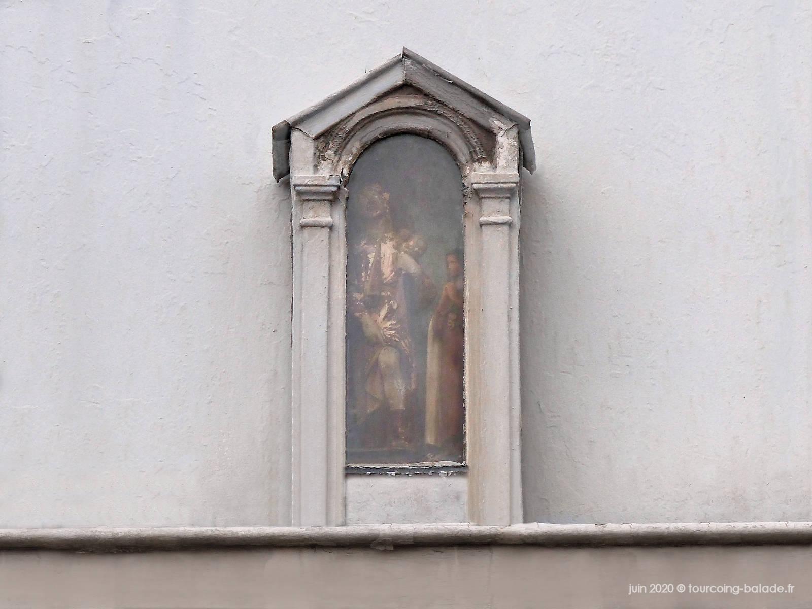 Niche fixée, Marie et Joseph, rue du Calvaire, Tourcoing 2020