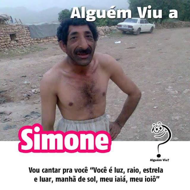 Alguém viu a Simone?