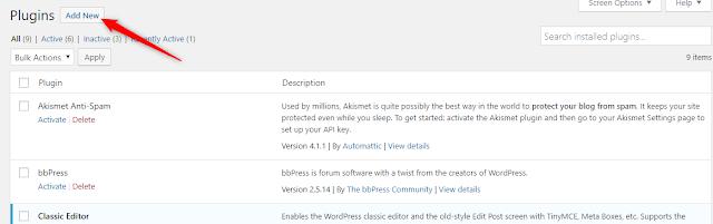 Cara Install Plugin WordPress