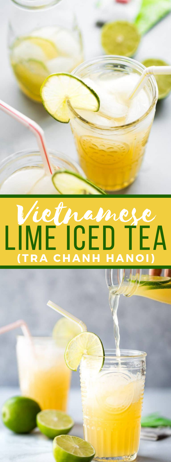 VIETNAMESE LIME ICED TEA (TRA CHANH HANOI) #drinks #refreshingdrink
