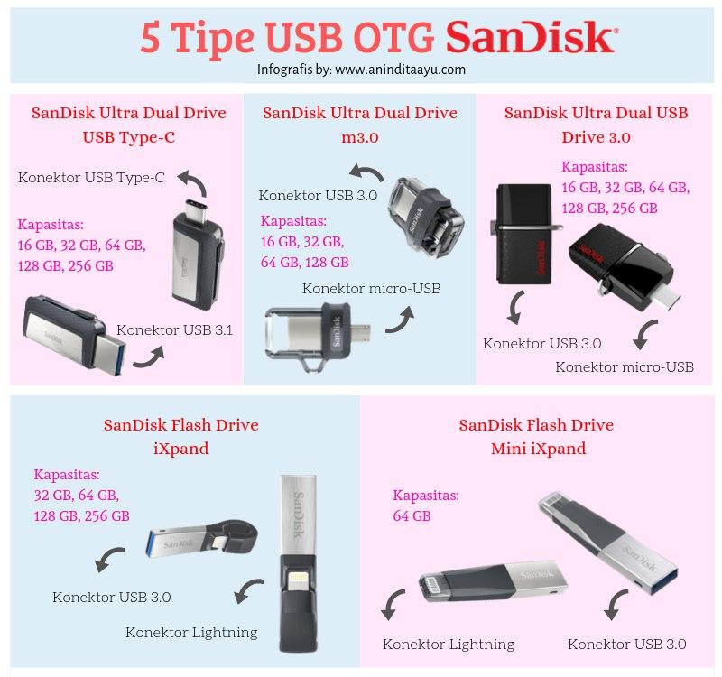 5 tipe USB OTG SanDisk