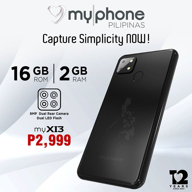 MyPhone myX13 with square cam design, 4G LTE is priced at PHP 2,999!