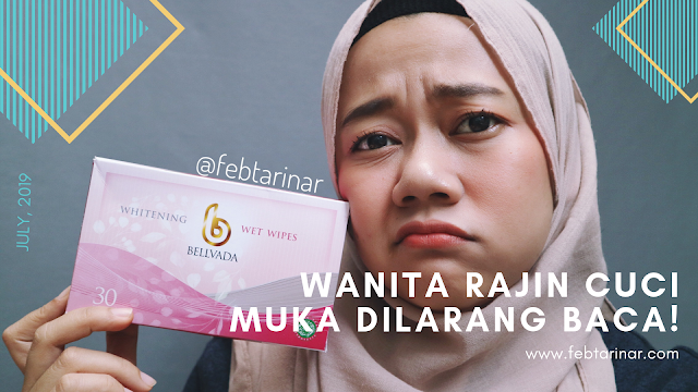 Bellvada Skincare Wet Wipes Whitening febtarinar.com beauty blogger bandung