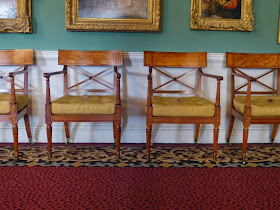 Chippendale chairs in the Picture Room, Stourhead